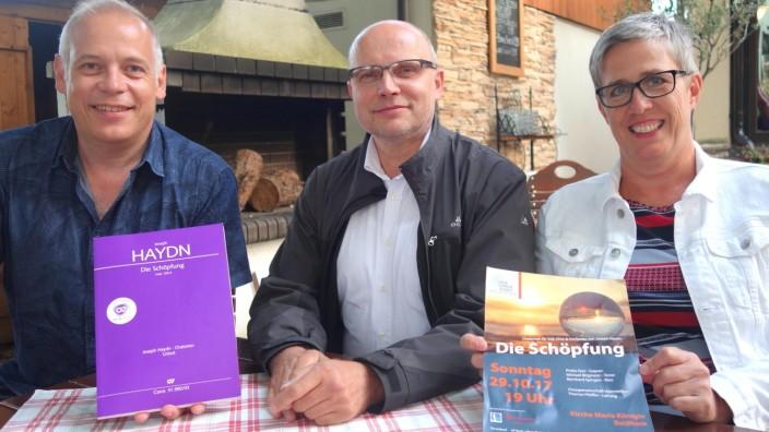 Chorgemeinschaft Vaterstetten, Bernhard Lermann, Thomas Pfeiffer und Anette Gros