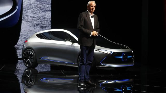 Troska, a board member of Daimler AG presents the new Mercedes Concept EQA car during the Frankfurt Motor Show (IAA) in Frankfurt