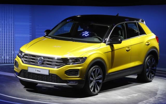 A VW T-Roc is pictured during opening of the Frankfurt Motor Show