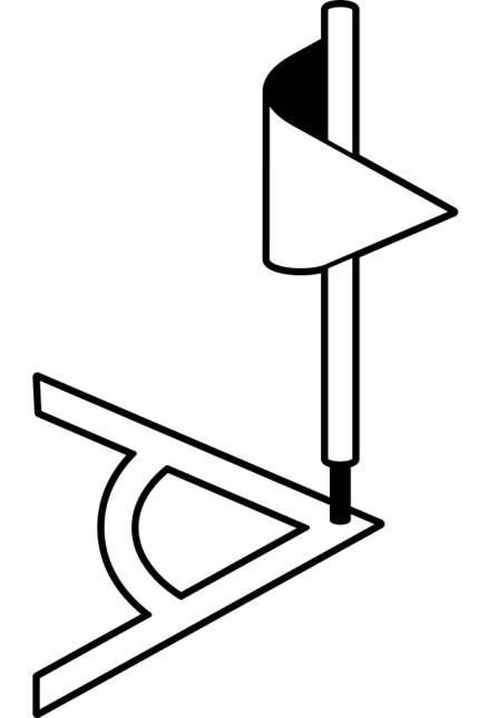Kurze Ecke Logo Illustration