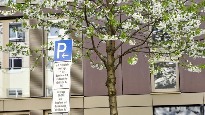 Parklizenzzone in der Au in München, 2017