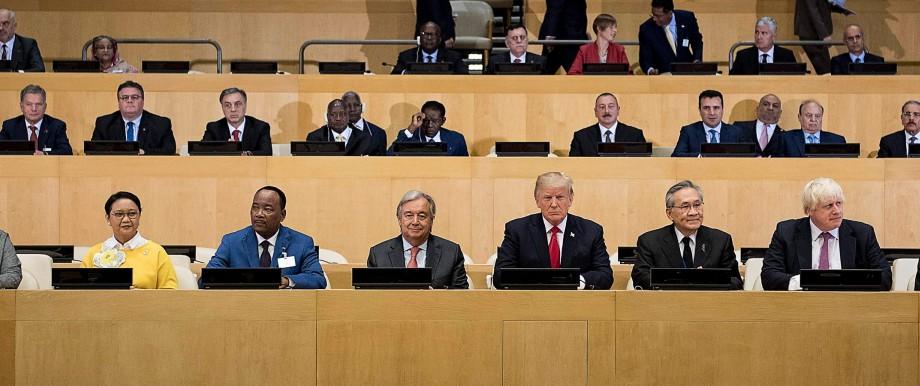 Vereinte Nationen: Die Teilnehmer warten auf den Beginn einer Sitzung am gestrigen Montag