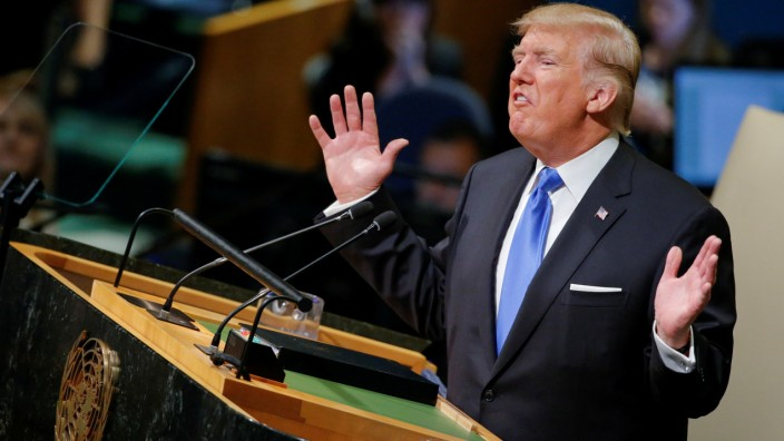 U.S. President Trump addresses the 72nd United Nations General Assembly at U.N. headquarters in New York