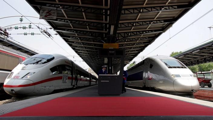 Ein Jahr Schnellzugverkehr Deutschland - Frankreich