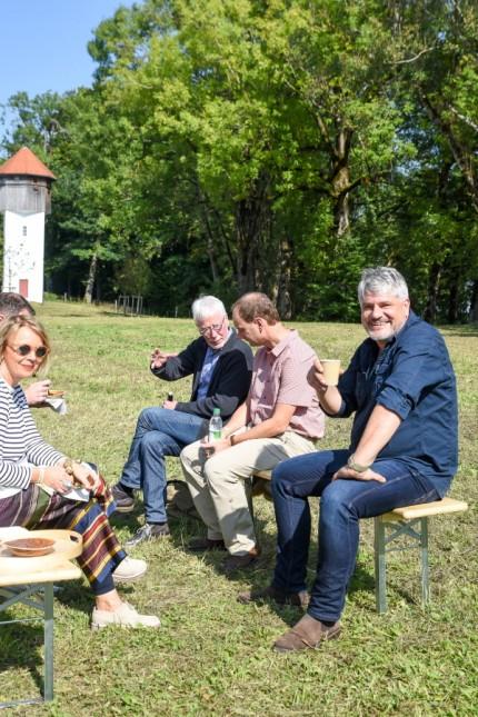 Begegnung mit der Kunst in Bad Heilbrunn: Raoul Schrott erwies sich als genialer Geschichtenerzähler.