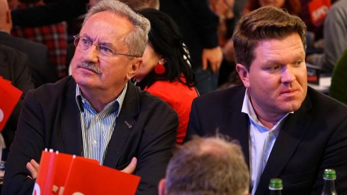 Florian Post und Christian Ude am Abend der Bundestagswahl in München, 2017