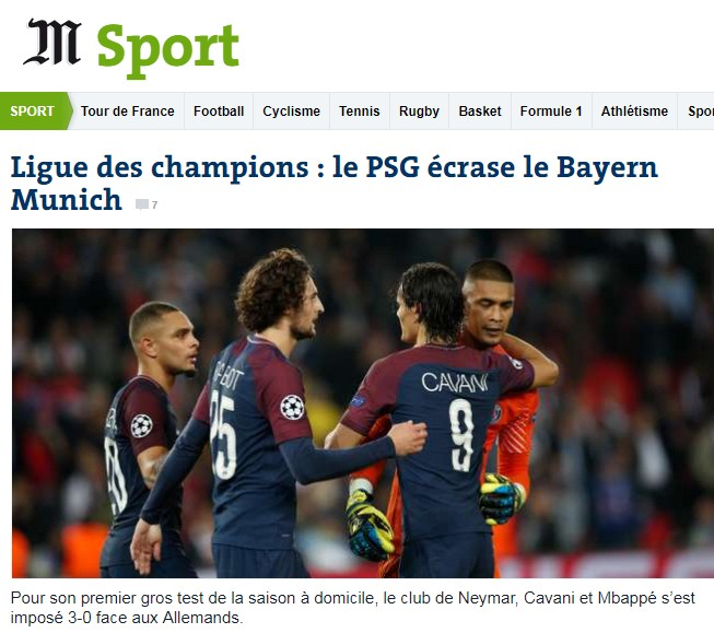 Pressestimmen PSG FC Bayern