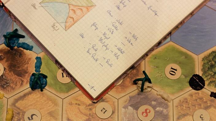Spiel-Erfinder im Gespräch: Das Spielfeld von Catan.