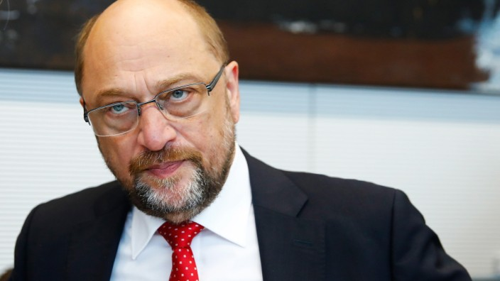 Social Democratic Party (SPD) leader Schulz attends first parliamentary meeting after general election in Berlin