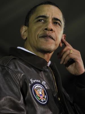 Barack Obama, Bomberjacke; Foto: AP