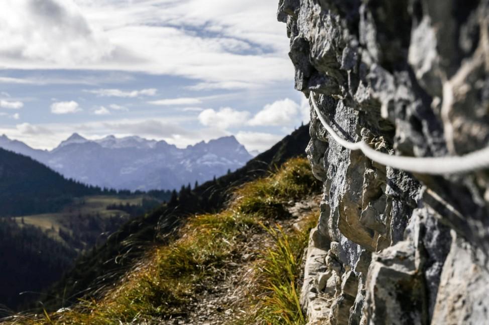 Karwendel Bergtour Tour Wanderung Sylvensteinsee Schafreuter Baumgartensattel Fleischbank Hinterriß Rißbach Tölzer Hütte