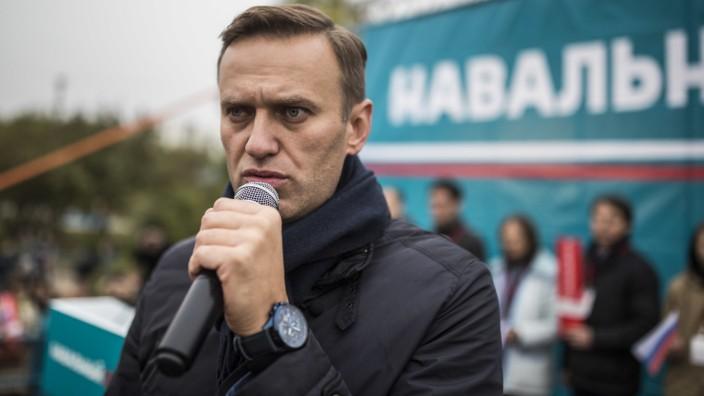 Oppositionsführer Nawalny in Russland