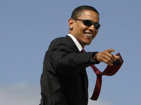 Mit Schal, Charme und Krawatte, Barack Obama, Mode