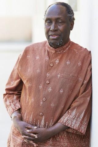 Der kenianische Schriftsteller Ngugi wa Thiong 2017 in Barcelona