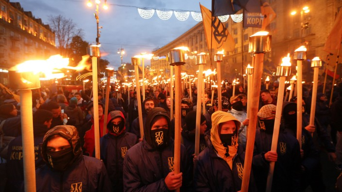 Nationalistische Demonstration in Kiew