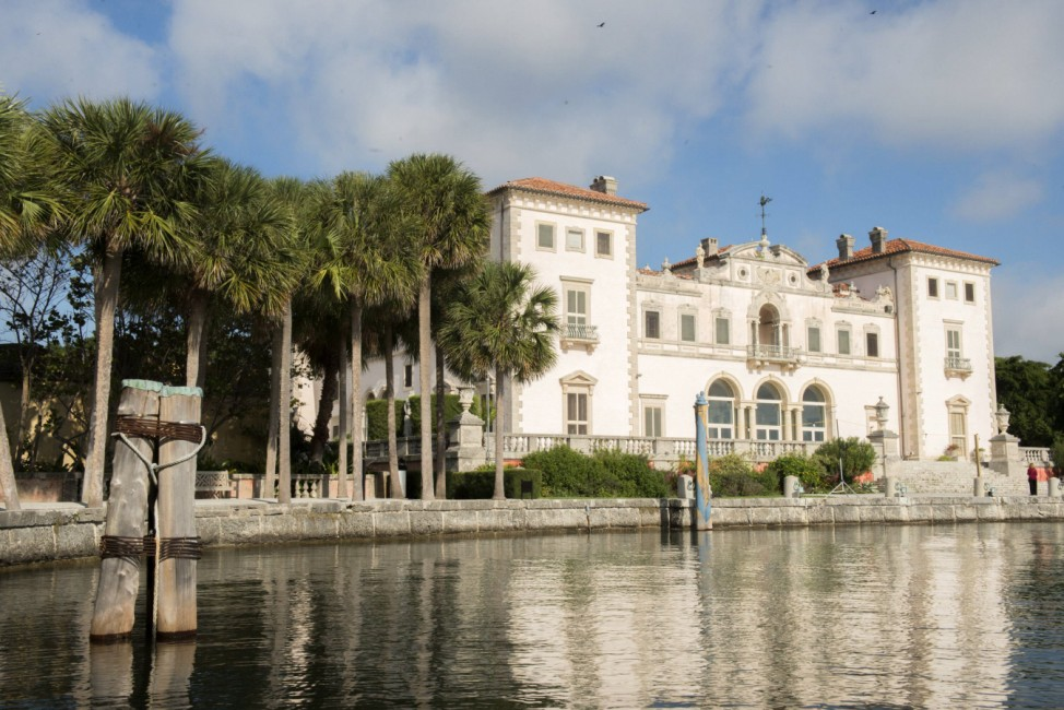 A view of Vizcaya the winter residence of millionare James Deering one of the first to choose Miam