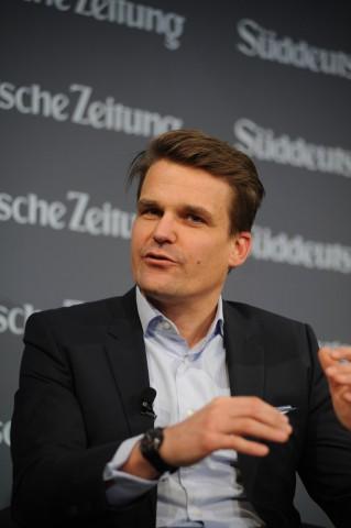 """Philip Ginthör beim """"Süddeutsche Zeitung Wirtschaftsgipfel"""" in Berlin, 2015"""