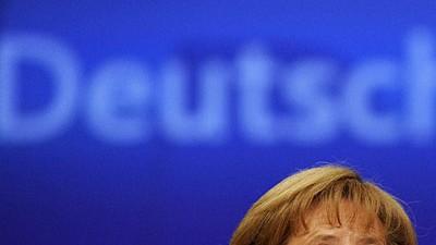 CDU-Vorstoß ärgert Merkel: Will nicht alles ins Grundgesetz schreiben: Bundeskanzlerin Angela Merkel auf dem CDU-Parteitag.