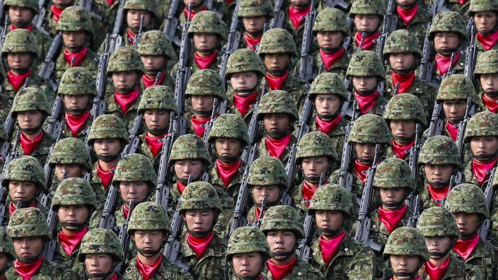 Japan's Self-Defense Forces military parade