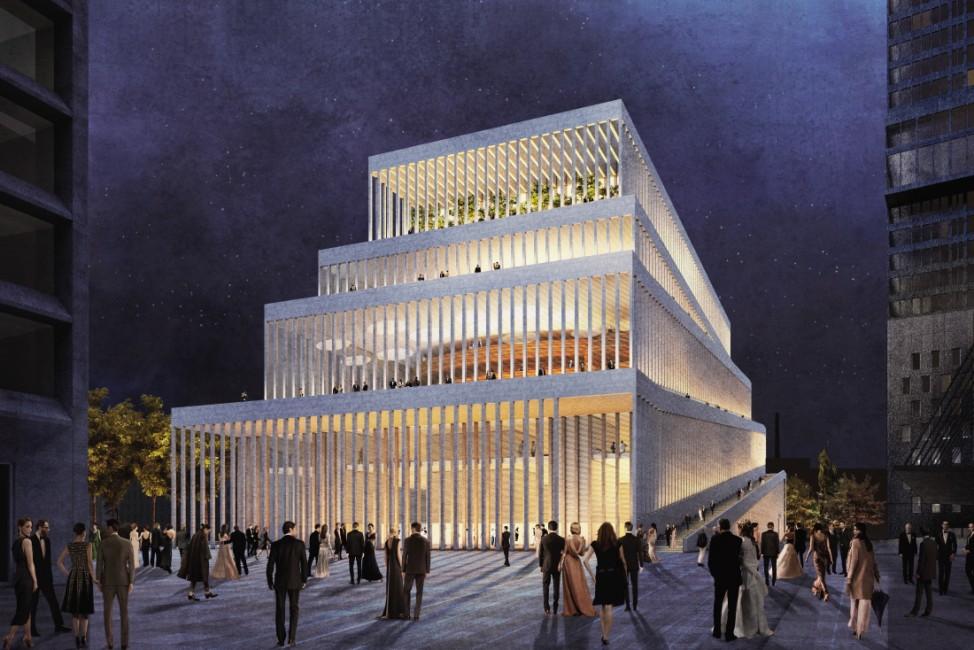 Konzerthaus Werksviertel München Architektenwettbewerb Dritter Preis David Chipperfield Architects Gesellschaft von Architekten mbH