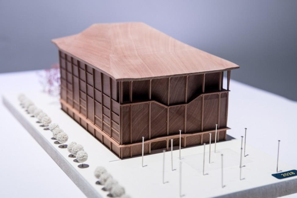 Modelle Konzertsaal ausgestellt im Werksviertel in der White Box