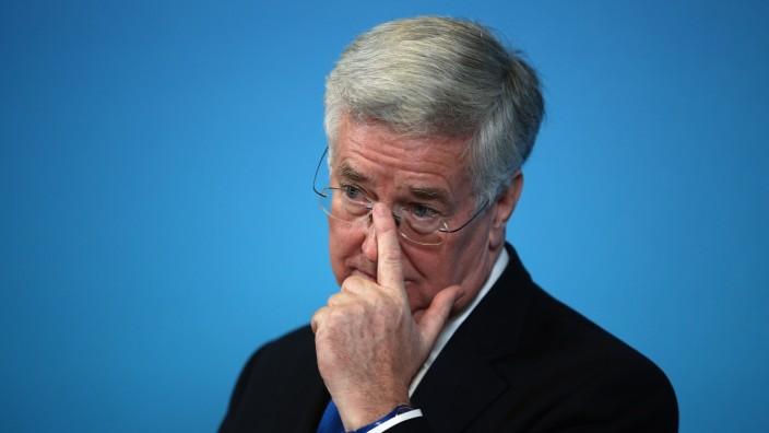 FILE - Defence Secretary Sir Michael Fallon Resigns