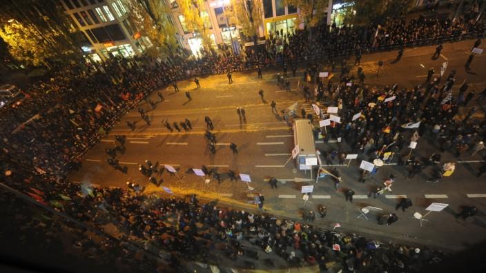 Anti-Pegida Demonstration am 9. November in München, 2015