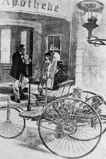 Bertha Benz kauft Kraftstoff, 1888