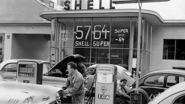Tankstelle in der Nähe von München, 1960