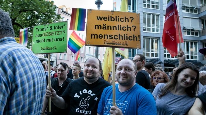 Demonstrationszug zum IDAHIT in München, 2017