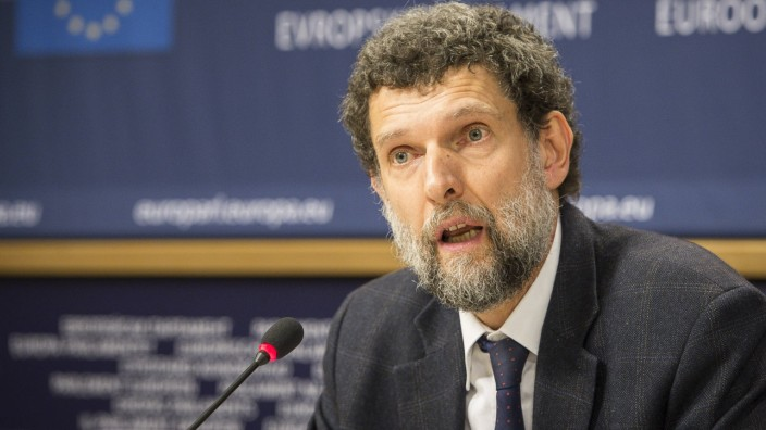 Dec 11 2014 Brussels Bxl Belgium Osman Kavala Chair of the cultural organisation Anadolu Ku