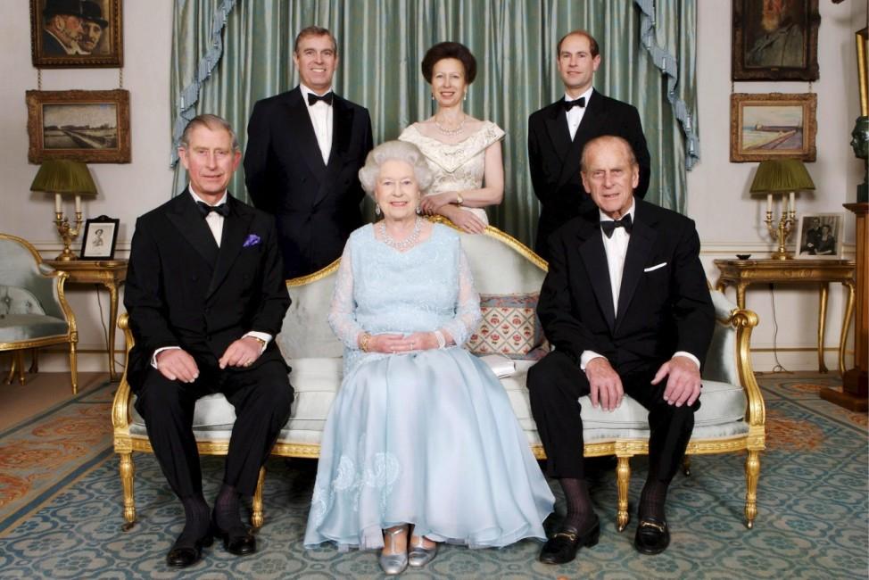 Königin Elizabeth II. mit Familie