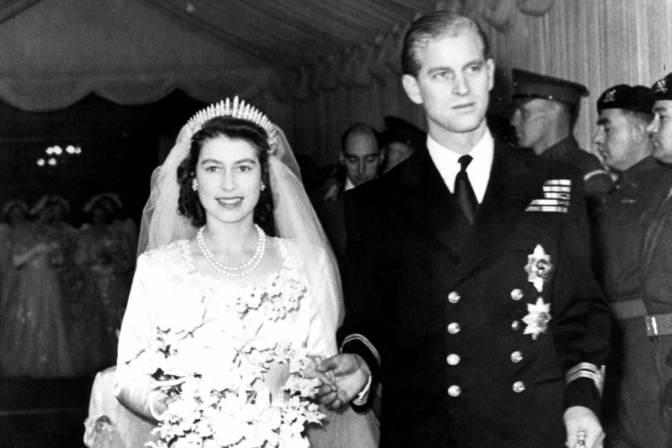 Königin Elizabeth II. und Prinz Philip - Hochzeit