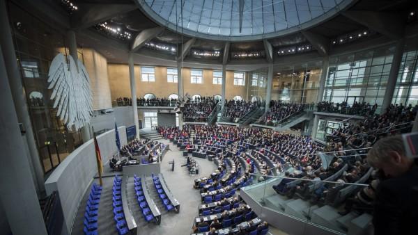 Plenarsaal aufgenommen im Rahmen der Konstituierenden Sitzung vom 19 Deutschen Bundestag in Berlin