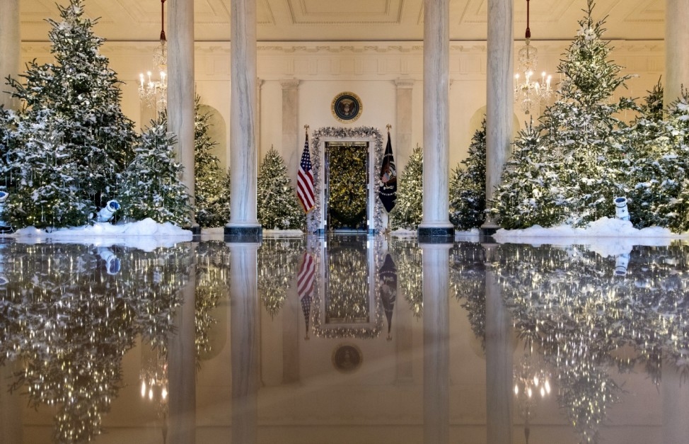 Weihnachtsdeko im Weißen Haus