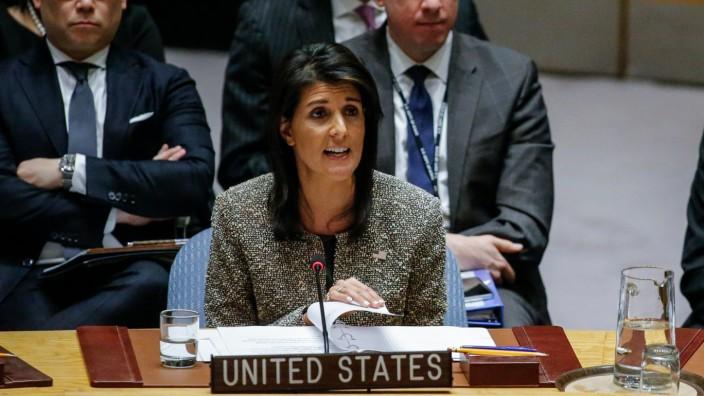 New York: Nikki Haley ist US-Botschafterin bei den Vereinten Nationen in New York.
