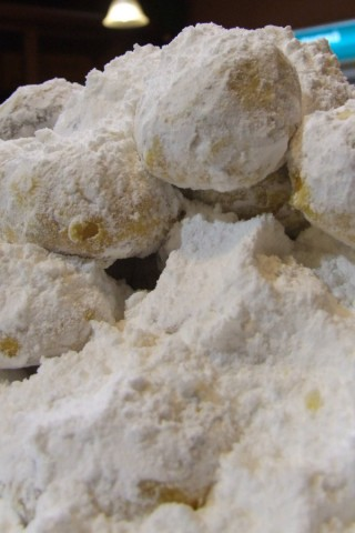 Kourabies plural Kourabiedes a cookie common also to Turkish and Arabic people Greek Christmas cook