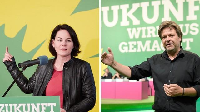Machtkampf bei den Grünen: Annalena Baerbock und Robert Habeck