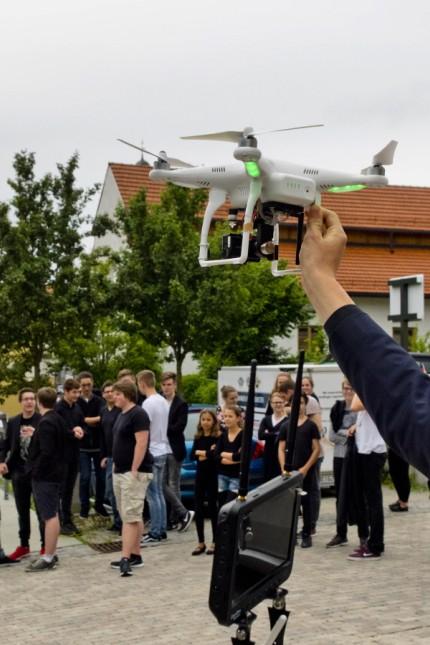Grafinger Jugendorchester - Dreharbeiten mit Drohne
