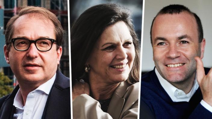 Machtkampf: Alexander Dobrindt, Ilse Aigner und Manfred Weber (v.l.n.r.).
