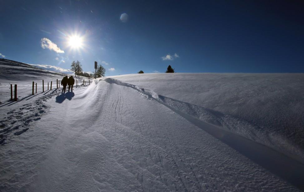 Schnee und Sonne in Südbayern
