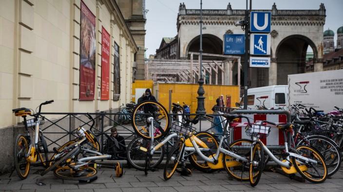 Obike zieht Großteil der Leihräder aus München ab
