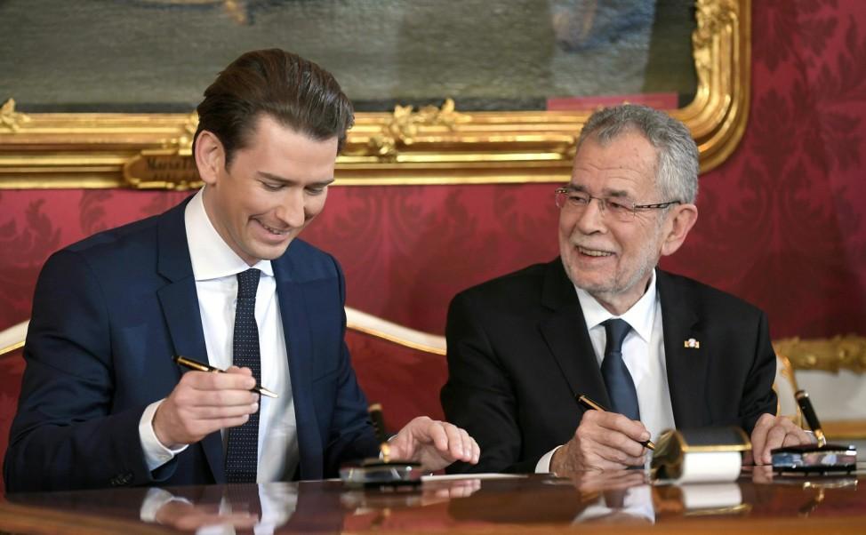 Vereidigung von Österreichs neuer Regierung