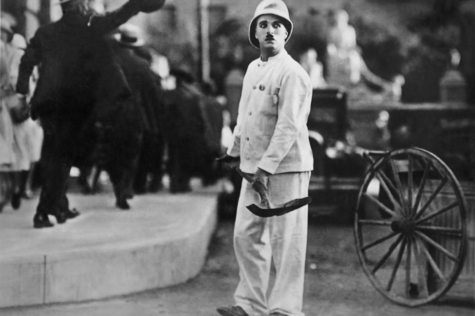 """Charles Chaplin in """"Lichter der Großstadt"""", 1931"""