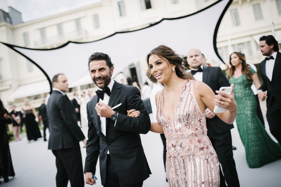 FILE: Eva Longoria Pregnant With First Child L'Oreal At amfAR Gala Cannes 2017 The 70th Cannes Film Festival - #Canniversary