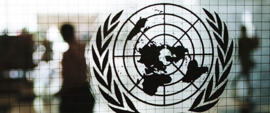 UN Hauptgebaeude in der First Avenue in Manhattan waehrend der UNO Hauptversammlung in New York