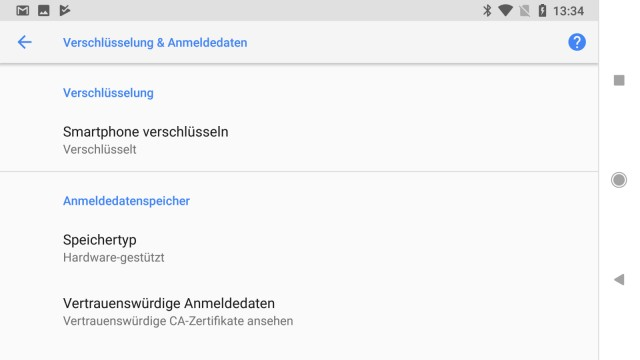 Android Daten