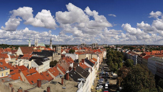 Germany Saxony Goerlitz View over the rooftops of the old town PUBLICATIONxINxGERxSUIxAUTxHUNxONL