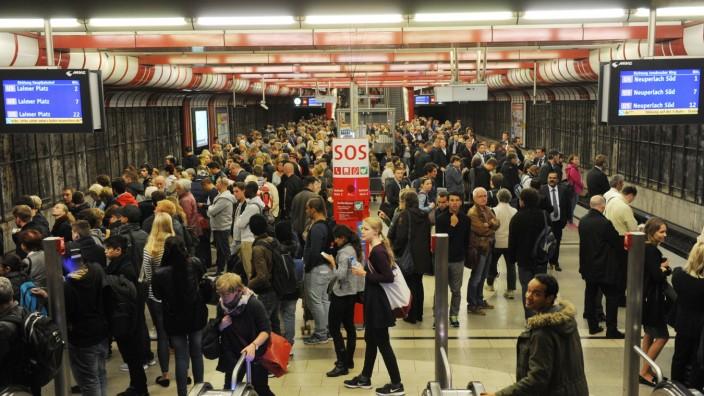 S-Bahn Chaos auf der Stammstrecke in München, 2015