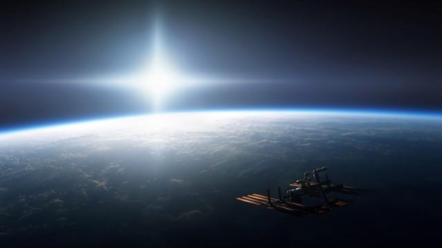 Die Internationale Raumstation ISS umkreist in rund 400 Kilometern die Erde.